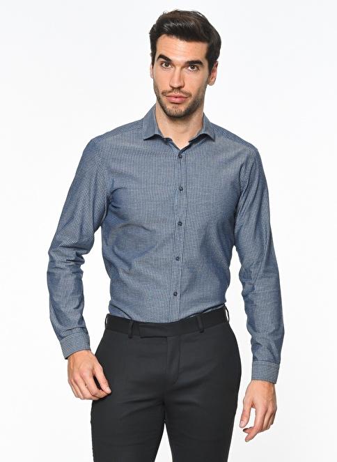 Ramsey Uzun Kollu Slim Fit Gömlek İndigo